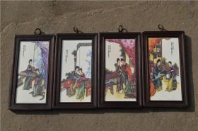景德镇陶瓷大师手绘瓷板画171120031人物山水花鸟装饰画客厅摆件