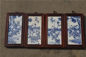 景德镇陶瓷大师手绘瓷板画171120036人物山水花鸟装饰画客厅摆件