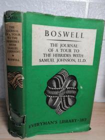 1941年 THE JOURNAL OF A TOUR TO THE HEBRIDES WITH SAMUEL JOHNSON   含藏书票  带书衣  人人文库