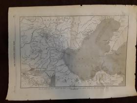1860年中国东部地图