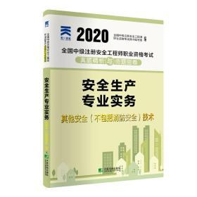 全国中级注册安全工程师 2020教材配套试卷真题精析与命题密卷:安全生产专业实务——其他安全(不包括消防安全)技术