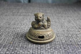 老铜香炉狮子盖茶宠摆件文房笔架镇纸
