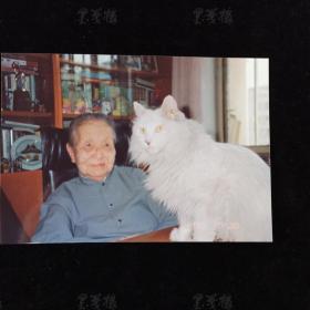 """著名作家、社会活动家、""""世纪老人"""" 冰心 签名照片一枚 HXTX311676"""