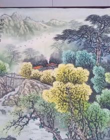画家魏大祺山水画一幅