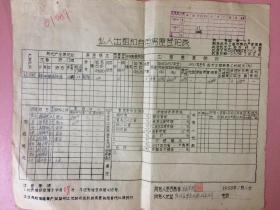 低价,票证,国有土地使用证(空白),登记表,上海市房地产管理局,上海市统计局,大约30*25cm