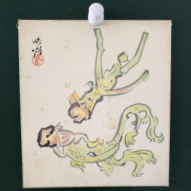 日本回流字画 464方型色纸 卡纸小画片