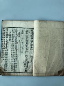 清代木刻线装本《唐诗合解》(4册12卷全)