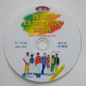 朗文图解日常生活英语 一张电脑上使用的光盘 光盘里含电子书和朗读MP3文件