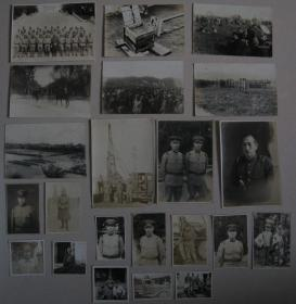 侵华日军 照片 22枚(士兵集合 演习 火药 儿童  慰安妇?等)