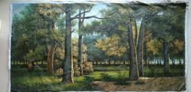 浩然斋集书画之一百零四:大幅旧风景油画一幅【具款待考】