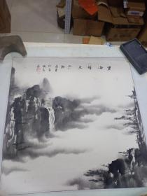 山水画  10幅合售(尺寸55x 55)