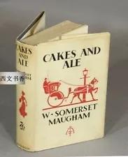 【包邮】1930年初版初印带珍贵书衣/ 英国作家毛姆Cakes and Ale 《寻欢作乐》