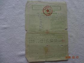 青海省农业税纳税通知书(1972年)