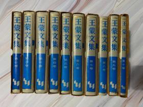 王蒙文集 一版一印 全10册 未翻阅 仅印4000册 第八册函套缺失 私人藏书有印章 精装 仿皮面
