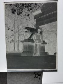 建国前后2*4cm老底片1张 宁波知识分子家庭系列 石雕
