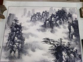 老山水画 7张合售,无款  画工好(尺寸69 x 55)