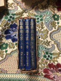 支那事变战迹之刊  上中下3卷全 全日文
