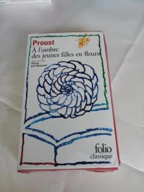 Proust A lombre des jeunes filles en fleurs(带包装盒)