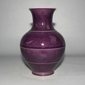 茄皮紫竹节瓶