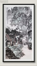 【保真】中美协会员,北京工艺美术出版社主编、副社长,著名画家贾德江精品写意山水画