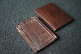晚清民国红木砚盒
