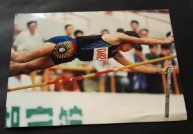 2000年前后体育题材老照片,撑杆跳翻越瞬间