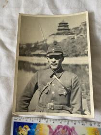 民国时期侵华日军军官游览北京颐和园老照片 大尺寸老照片包老侵华罪证
