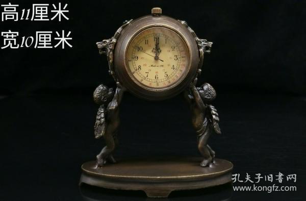 天使举钟机械表  ,能正常使用,重量384g