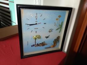 北极星电子挂钟(背景图案:贝壳拼图春燕剪柳)正常使用