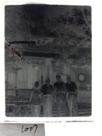 建国前后2*4cm老底片1张 宁波知识分子家庭系列 灵隐寺灵鹫飞来