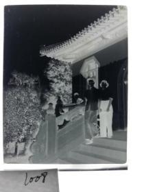 建国前后2*4cm老底片1张 宁波知识分子家庭系列 寺庙
