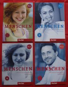 Menschen sechsbandige Ausgabe : 【Kursbuch A1.1 +A1.2 + Arbeitsbuch A2.1 + A2.2 】 mit Audio-CD  4CD 4本合售 16K
