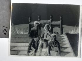 建国前后2*4cm老底片1张 宁波知识分子家庭系列 中山陵