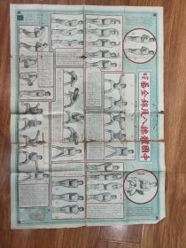 民国大挂图《中国体操八段锦全图》