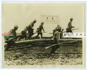 民国1939年4月侵华日军入侵占领江西南昌,攻陷火车站, 具有标志性意义的老照片