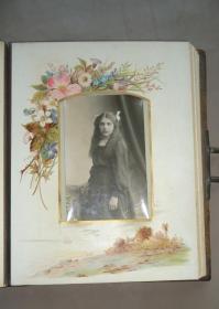 1890年:A British Family Album《英国一家人》 精美全真皮巨幅影集  多张原品蛋白老照片 极珍贵历史文物 全球孤本
