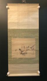 日本回流字画 原装旧裱354号老寿星