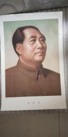 建国初期军内毛泽东画像毛主席挂像伟人像保真保老侧面像目视西方