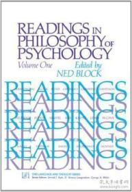 1: Readings In Philosophy Of Psychology Volume I