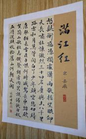 【保真】山东省书协会员、知名书法家张卫国精美小品:岳飞《满江红》