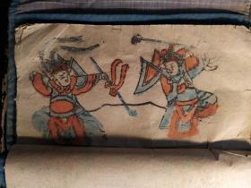 山东曹州木版年画 福本子 清代戏曲人物、花鸟(17幅)101号