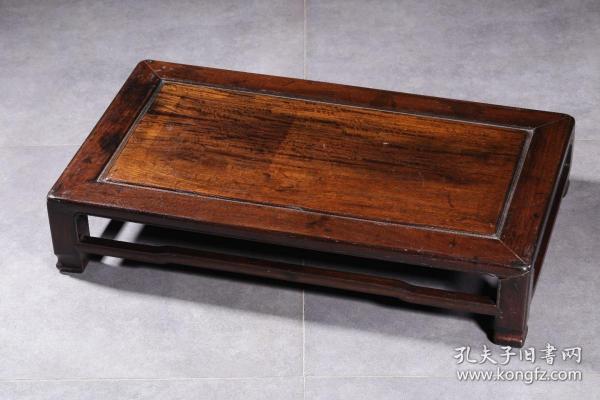 酸枝红木四足长方几 尺寸:长48厘米,宽30厘米,高10厘米,重1152克 全品