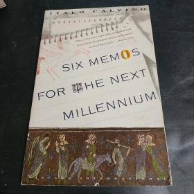 Six Memos for the Next Millennium:The Charles Eliot Norton Lectures 1985-86