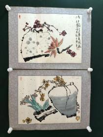 日本回流字画 软片2471两幅作品