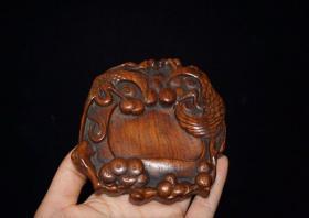 花梨木小砚台,10×9×1.7厘米,140元