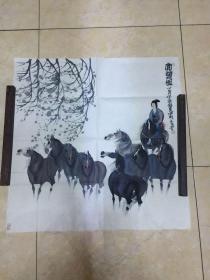 曹小钦画作(赏乐图)