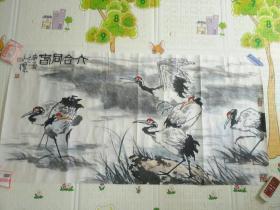 著名大写意画家郑永标先生四尺整纸六合同春图一幅!