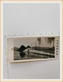 老照片 杭州西湖断桥