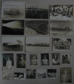 侵华日军 照片 21枚(青岛所泽町堂邑路 支那战地军宣抚班 联合演习等)