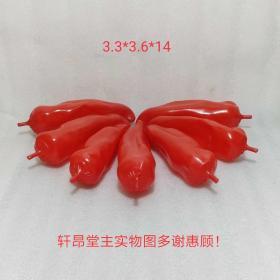 红红火火:饭店/餐厅用 鲜红色新辣椒模型